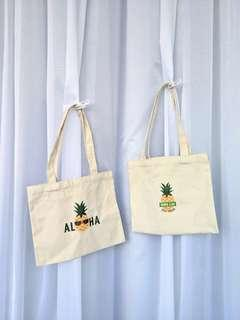 Canvas Tote Bag (the pineapple shop)