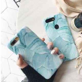 Iphone 8 Green Marble Case