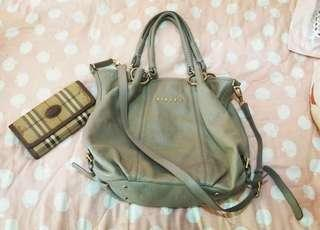 Bundle Authentic Preloved Sissy 2 way bag And Burberry Wallet