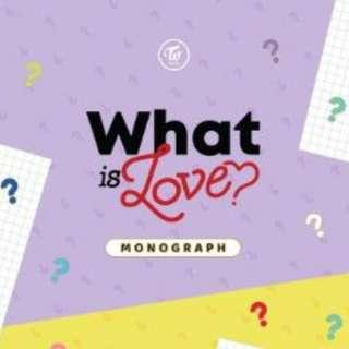TWICE MONOGRAPH [WHAT IS LOVE?] Photobook + 9 Photocards