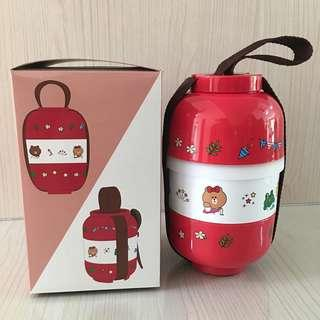 Line 3-tier lunch box collection set