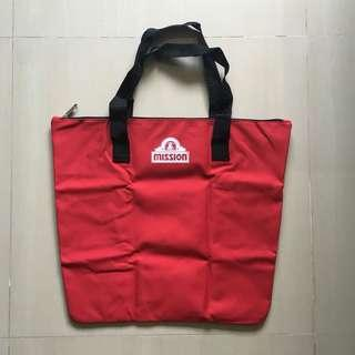 Brand New Large canvas red tote shopping reusable go green recycle bag sling bag / Red Coin Pouch Purse Wallet  #single11