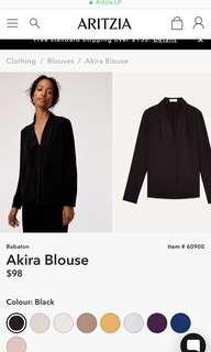Aritzia AKIRA black blouse