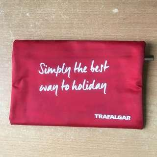 🚚 Red Holiday Travel Zip Make up Coin Pouch Wallet / A4 Orange Felt Material Folder File  #single11