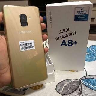 SAMSUNG A8+ 6GB RAM 64GB GOLD FULLSET