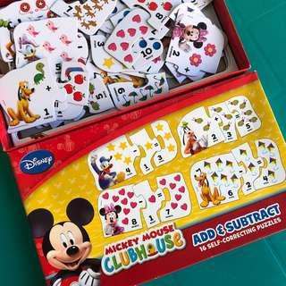Disney Add and Subtract Puzzle