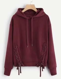 深紅色衛衣 Burgundy Hoodie