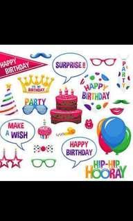 Birthday party accessories 道具 裝飾