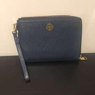 Tory Burch leather wallet clutch