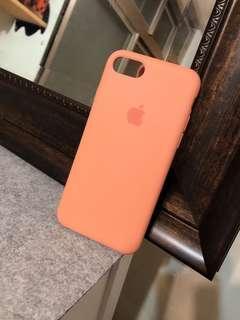 正版Apple原廠矽膠手機殼 i7 螢光粉