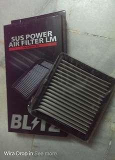 drop in washable filter na car for wira honda