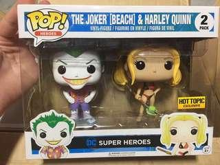 Funko Pop Heroes The Joker Beach & Harley Quinn