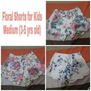 Floral Shorts for Kids (3-5 yrs old)