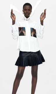 zara flowing blouse with bow