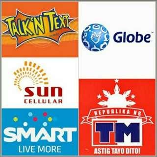 BUY LOAD AVAILABLE HERE! For Globe, Smart, TNT, TM and Sun