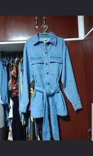 H&M Denim Jacket with belt