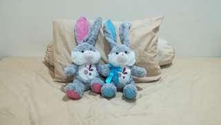 2 x Couple Bunny Rabbit Plush