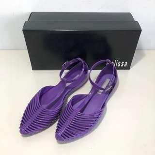🚚 Melissa 香香鞋 巴西尺寸35,36,37,38(Mel 夏日風情 可愛踝繫帶娃娃鞋-紫色)