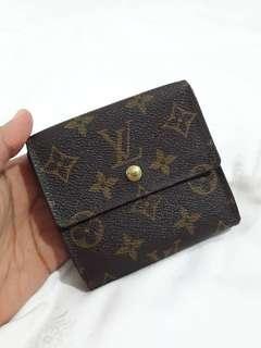 Authentic Louis Vuitton Monogram Wallet LOUIS VUITTON portefeuille trifold elise with coins compartment.