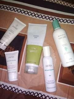 Jafra mudmask, scrub, brightening lotion, brightening toner dan foot care