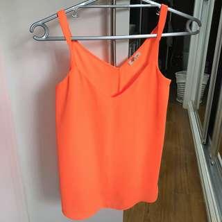 River Island Neon Orange Top