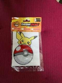 Car/motor 3M pikachu on pokeball sticker