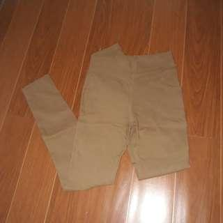 Brown Fitted Pants