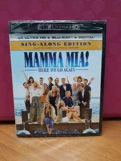 USA Blu Ray 4K - Mamma Mia 2 Here We Go Again (ATMOS)