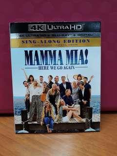 USA Blu Ray Slipcase 4K - Mamma Mia 2 Here we go again