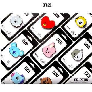 (Pre-Order) - Official BT21 Griptok Chimmy and Tata