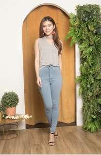 Kareliea skinny jeans in light denim