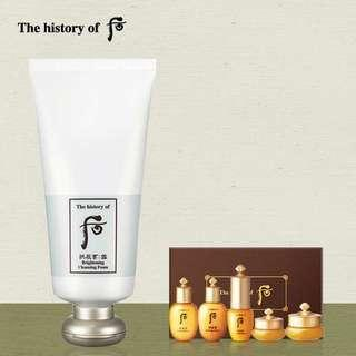 The History of Whoo Brightening Cleansing Foam 后 拱辰享雪白潔顏乳 180ml (連拱辰享Special Gift Set)