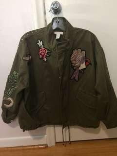 New hm embroidered jacket