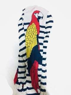 鸚鵡條文針織毛衣