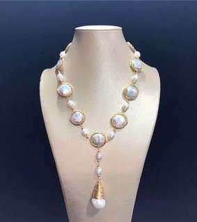 Baroque Pearl Jewelry Big Size Natural Cultured Baroque Irregular Pearl Freshwater Pearls Necklace