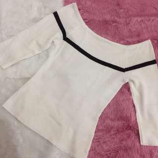 Zara Inspired Knitted Off Shoulder Top