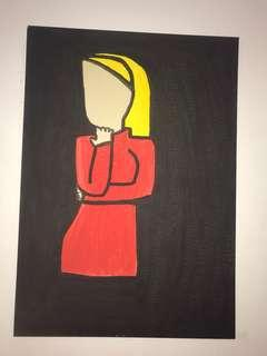Britney Spears Cartoon Painting