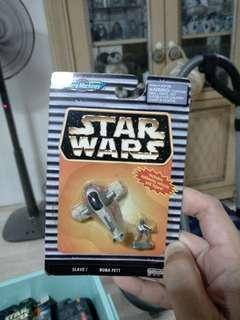 Star Wars MicroMachines Slave 1 and Boba Fett