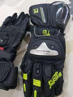 BN Authentic Komine Motorcycle Racing Glove