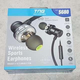 TNG Wireless rechargeable waterproof IPX4 sports earphone