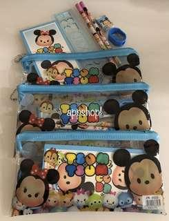 Tsum tsum adorable pencil case stationary set- children party goodies bag, Christmas party gift