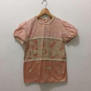 Pastel Pink Batik