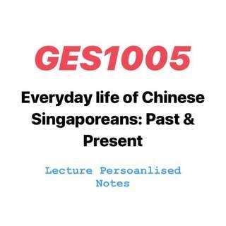 GES1005 Everyday life of Chinese Singaporeans