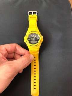 G shock 黃色 G101 行針跳字