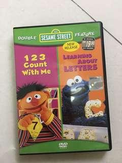 Sesame Street DVD - 123 count with me, Learnjng about Letters