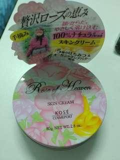 Kose玫瑰天堂潤膚霜精華手霜80克