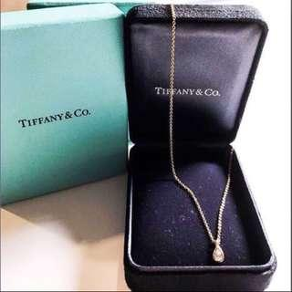 (Brand New❗️)💯Tiffany & Co. 18K Rose Gold Pear-Shaped Diamond Necklace