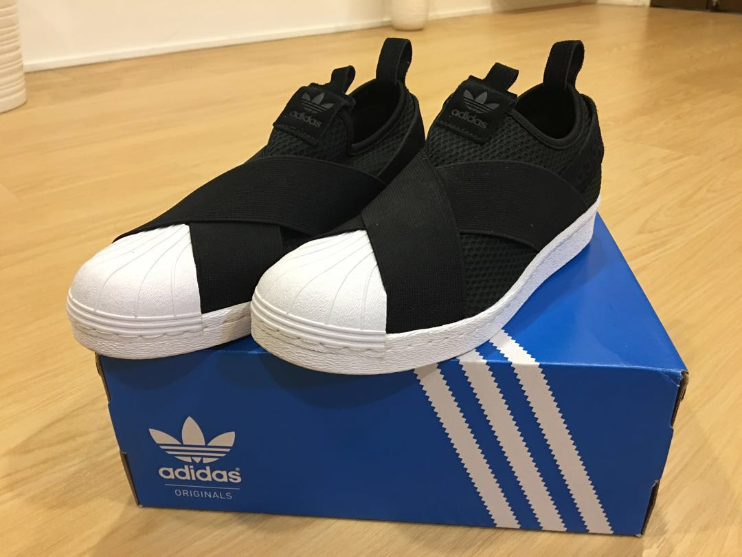 0c5d1ca745b Adidas Original Superstar Slip on W Black US7, Women's Fashion, Shoes,  Sneakers on Carousell