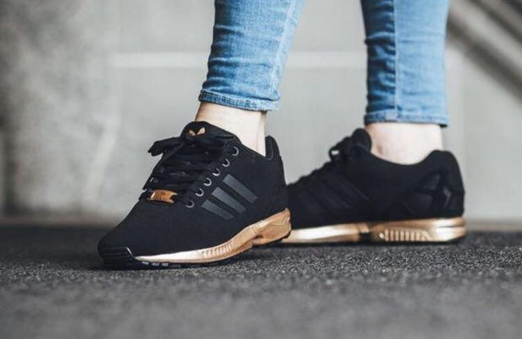 Bekend adidas flux black n gold | Pas cher | www.photographe-robin.com &KS66