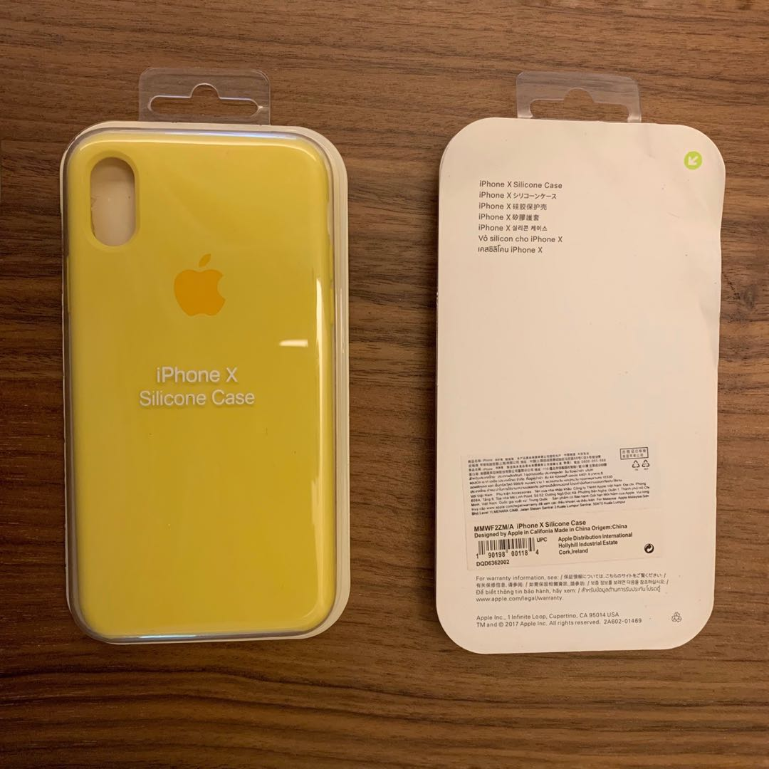 newest collection 1b2b2 60bd5 Apple iPhone X & XS Silicon Case (Yellow)
